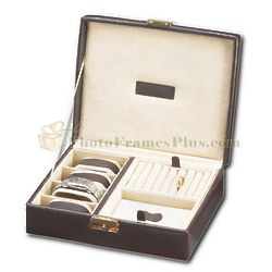 Men's Leather Jewelry and Watch Case