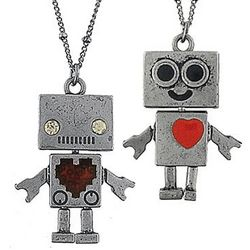 Robot Heart Necklace