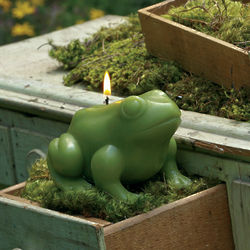 Frog Flower Candle