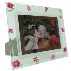 Glass Grandmother Picture Frame