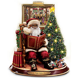 Merry Christmas To All Storytelling Santa Tabletop Sculpture