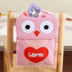Personalized Owl Mini Backpack Valentine Card Holder