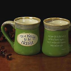 'Tis a Blessing to be Irish Pottery Mug