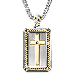 Men's Strength In God Cross Pendant