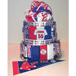 Boston Red Sox Candy Bar Cake