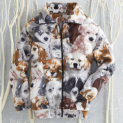 Cuddly Animal Themed Fleece Jacket