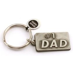 #1 Dad Pewter Key Chain