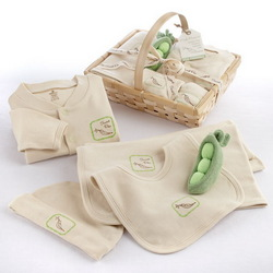 Sweet Pea Five-Piece Organic Layette Set