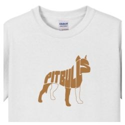 Men's Pitbull Name Art T-Shirt