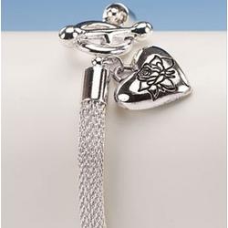 Forever in My Heart Silver Charm Bracelet