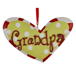 Grandpa Heart Christmas Ornament