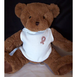 Breast Cancer Bling Teddy Bear