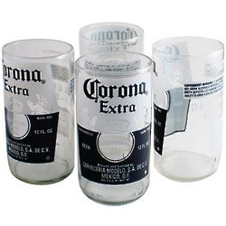 Recycled Corona Tumbler Glasses