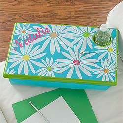 Daisies Personalized Girl's Lap Desk