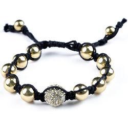 Shamballa Inspired Gold Bead Bracelet