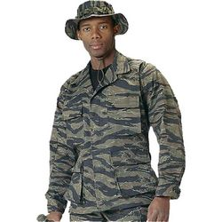 Ultra Force Poly/Cotton Twill Tiger Stripe BDU Shirt