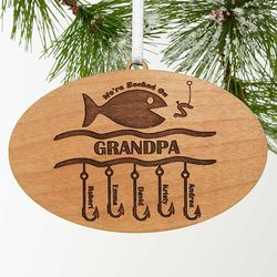 Hooked on You Personalized Fishing Ornament