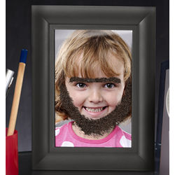Fuzzy Face Picture Frame