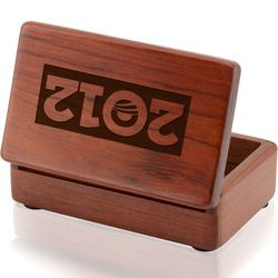 Obama 2012 Rosewood Business Card Holder