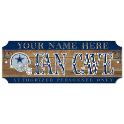 Dallas Cowboys Personalized Wood Sign