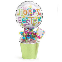 Happy Easter Balloon with Sweets Gift Basket