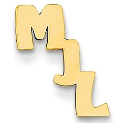 14K Gold Personalized Initial Tie Tac