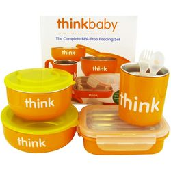 BPA-Free Complete Feeding Set in Orange