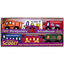 Wooden Toy Service Scoots Box Set