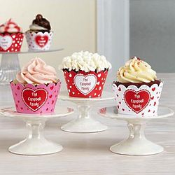 Personalized Valentine's Day Cupcake Holders