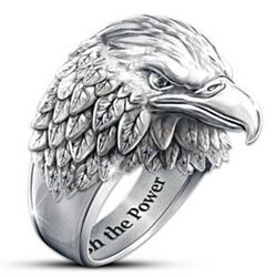 Men's Strength and Pride Eagle Ring