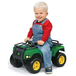 Kid's John Deere Sit 'n Scoot Buck ATV with Lights and Sound