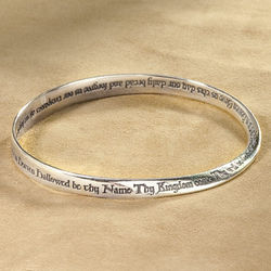 Lords Prayer Mobius Bracelet in Sterling Silver