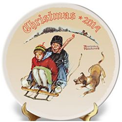 Norman Rockwell 2014 Christmas Porcelain Plate