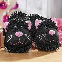 Fuzzy Friends Cat Slippers