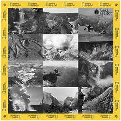 National Geographic Vintage Photo Collage Bandana