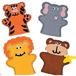 Zoo Animal Lacing Puppet Craft Kit