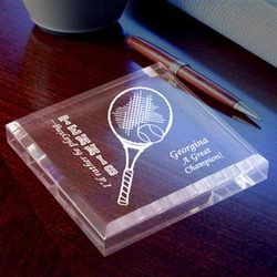 Personalized Tennis Keepsake & Paperweight