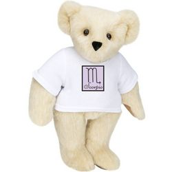 "15""Astrological Scorpio Cartoon T-Shirt Teddy Bear"