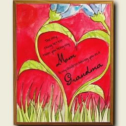 Thank Mom for Being a Grandmother Plaque