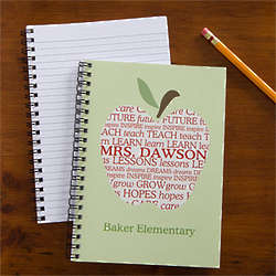 Personalized Teacher Apple Mini Notebooks