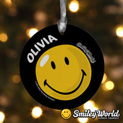 Personalized Smiley Face Christmas Ornament