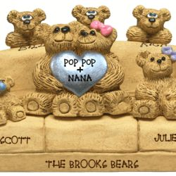 25th Anniversary Chair for Bear Couple with Up to 9 Kids