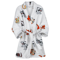 Playful Cats Fleece Robe