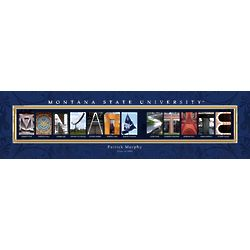 Montana State University Architecture Personalized Print