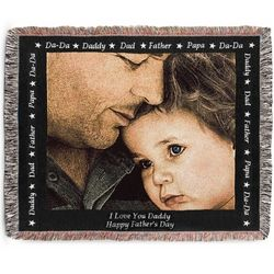 Landscape Dad Photo Blanket with Black Border