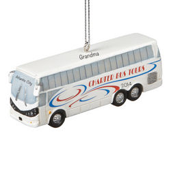 Personalized Tour Bus Christmas Ornament