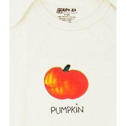 Organic Cotton Pumpkin Long Sleeve Bodysuit