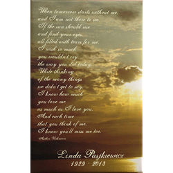 Personalized Sunset Memorial Canvas Art Print