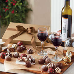 Dessert Wine and Truffles Gift Box