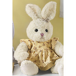 Girl Easter Bunny Stuffed Animal